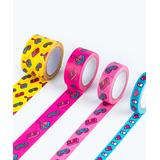 Mustard Measuring Tapes multi - Pink & Yellow Power Up Washi Tape Set
