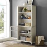 Largo Antique White Display Cabinet - Linon LG115WHTABU