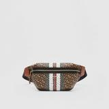 Medium Monogram Stripe E-canvas Bum Bag - Brown - Burberry Belt Bags
