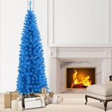 The Holiday Aisle® 6' Artificial Christmas Tree in Blue, Size 72.0 H x 19.2 W x 19.2 D in | Wayfair 48F9AA46A4D54F17876724BE45ED8BAF