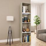 """vidaXL Book Cabinet/TV Cabinet White and Sonoma Oak 14.2""""x11.8""""x56.3"""""""