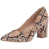 Penny Loves Kenny Women's Print Pump, Natural Faux Snake, 8 US wide