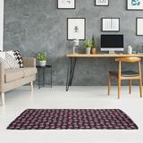 East Urban Home Ghosts Black/Hot Pink Area Rug Chenille in White, Size 60.0 H x 36.0 W x 0.4 D in   Wayfair F32BB3FF6FDC4C8385D82C280E8889AC