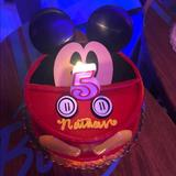 Disney Accessories | Mickey Mouse Cake Topper | Color: Black/Red | Size: Osbb