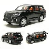 TIAO Car Model 1:32 Lexus LX570 Alloy Pull Back diecast Metal Toy Vehicles with Sound Light 6 Open Doors for Kids Gift