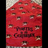 Disney Accessories | 3 Disney Pirates In The Caribbean Bandanas Os | Color: Black/Red | Size: One Size Fits All