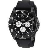 ESQ Men's Multifunction Black IP Watch w/ Silicone Strap FE/ 0244