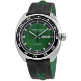 American Classic Pan Europ Automatic Green Dial Watch - Green - Hamilton Watches