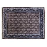 Gertmenian Handmade Wool Rug Heirloom Collection Plush Oriental Area Carpet, X Large 9x12 and Up, Navy