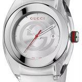 Gucci Jewelry   Gucci Ya137102 Sync Xxl White Rubber White Dial Un   Color: White   Size: Os