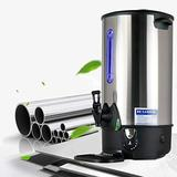 INTBUYING 304 Stainless Steel Large Capacity Commercial Office Kitchen Hot Water Dispense Boiler Instant Boiling Machine Heater with Faucet Tap-35L