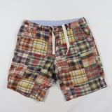 J. Crew Shorts | J Crew Multi-Color Patch Work Field Shorts Size 33 | Color: Red | Size: 33