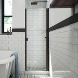 "Arizona Shower Door RD Swinging 32"" W x 64"" H Semi-Frameless Shower Door Tempered Glass in Brown, Size 64.375 H in   Wayfair R3264ORCL"