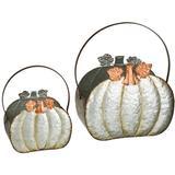 Regal Art & Gift 12435 - Galvanized Pumpkin Planter - Set/2 Home Office Planters