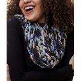 Leto Collection Women's Cold Weather Scarves BLUE - Blue Yarn Infinity Scarf - Women