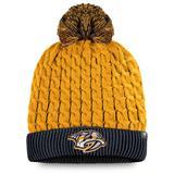 Women's Fanatics Branded Gold/Navy Nashville Predators Iconic Cuffed Knit Hat with Pom
