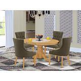 East West Furniture AVFR5-OAK-20 Dining Table Set, Oak