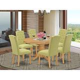 East West Furniture AVCE7-OAK-07 Dining Table Set, Oak