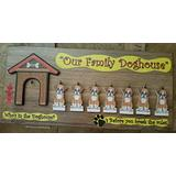 Handcrafted Who's in The Doghouse? Family of 7 Boxer Dogs-Deluxe Wall Plaque-Hand-Made in The USA