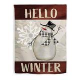 ThisWear Winter Decorations Hello Winter Flag Winter Holiday Seasonal Decor Snowman House Flag