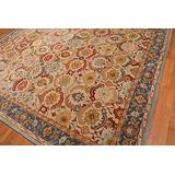 Old Hand Made Abbey Floral Traditional Persian Oriental Woolen Area Rugs (9'x12')