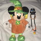Disney Other | Disney Store Halloween Minnie In Halloween Costume | Color: Green/Orange | Size: 15.5 Tall