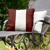 East Urban Home Texas College Station Indoor/Outdoor Throw Pillow Polyester/Polyfill/Polyester/Polyester blend in Red/White | Wayfair