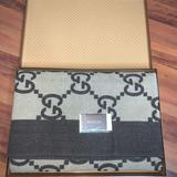 Gucci Bedding | Gucci Monogram Wool Cashmere Blanket | Color: Brown/Tan | Size: Os