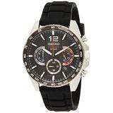Seiko Quartz Watch SSB347P1 - Rubber Gents Quartz Chronograph
