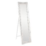 "Delacora HE-570-QA Queen Ann 66"" x 18"" Traditional Antique Framed Full Length Floor Mirror Classic"