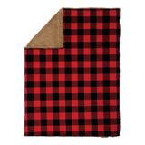 Trend Lab Lovey Blankets Red, - Red & Black Buffalo Check Stroller Blanket
