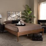 Baxton Studio Cielle French Bohemian Ash Walnut Finished Wood Full Size Platform Bed Frame - Wholesale Interiors MG0012-Ash Walnut-Full