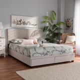 Baxton Studio Netti Beige Fabric Upholstered 2-Drawer Queen Size Platform Storage Bed - Wholesale Interiors Netti-Beige-Queen