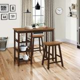 Tampa 3 Piece Bar Height Table And Stools - 4D Concepts 526908