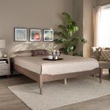 Baxton Studio Laure French Bohemian Antique Oak Finished Wood Queen Size Platform Bed Frame - Wholesale Interiors MG0011-Antique Oak-Queen