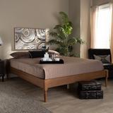 Baxton Studio Colette French Bohemian Ash Walnut Finished Wood Full Size Platform Bed Frame - Wholesale Interiors MG0009-Ash Walnut-Full
