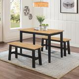New York Table With 2 Benches - 4D Concepts 534910