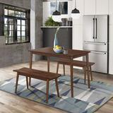 Branson Table And 2 Benches - 4D Concepts 517110