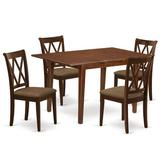 Winston Porter Renz 5 Piece Extendable Solid Wood Dining Set Wood/Upholstered Chairs in Brown, Size 30.0 H in | Wayfair