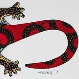 Bay Isle Home™ Cotton Gecko Wall Hanging Cotton in Black/Gray, Size 11.75 H x 8.25 W in | Wayfair 3389DD0B210F4B789B9B081516799D2B