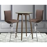 Orren Ellis DeBary 3 Piece Dining SetWood/Upholstered Chairs in Brown, Size 30.0 W x 30.0 D in   Wayfair BC8E472D689D4319B2BF083F5A1D259E