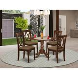 Winston Porter Diogene 5 Piece Drop Leaf Solid Wood Dining Set Wood/Upholstered Chairs in Brown, Size 29.5 H in   Wayfair