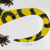Bay Isle Home™ Cotton Gecko Wall Hanging Cotton in Gray/Red, Size 8.25 H x 11.75 W in | Wayfair 7C4580278D034C93A6337B4BA7566D9F
