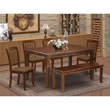 Winston Porter Camberry 6 Piece Solid Wood Dining Set Wood/Upholstered Chairs in Brown, Size 30.0 H x 36.0 W x 60.0 D in | Wayfair