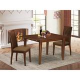 Winston Porter Lanette 3 Piece Extendable Solid Wood Dining Set Wood in Brown, Size 30.0 H in | Wayfair 4E1ECA9449D944D599FBCBB9A750BD39
