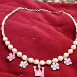 Disney Other | Disney Princess Neckace | Color: Pink/White | Size: Osbb