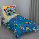 Disney Toy Story 4 Piece Toddler Bedding Set Polyester in Blue | Wayfair 6338416