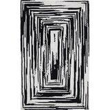World Menagerie Ovgoros Braided Hand-Braided Cotton Area Rug Cotton in Black, Size 60.0 W x 0.5 D in | Wayfair 73A1830AE8BA47F7B061E7DD0298A78A