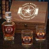 Ebern Designs Lage Army Strong Personalized 4 Piece Whiskey Decanter Set Glass, Size 9.0 H x 4.0 W in | Wayfair A26F6BAF28754987AD696950EB935DB1