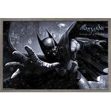 "Trends International DC Comics Video Game - Arkham Origins - Batman Wall Poster, 14.725"" x 22.375"", Barnwood Framed Version"